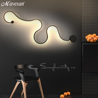 Hot Sale Modern Wall Lamps Bedroom Study Living Balcony Acrylic Lights Home Deco In White Black Iron Sconce Led Lights Fixtures