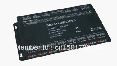 Free shipping DMX512 controller & RGB LED Driver, 12 Channels dmx driver, 12V-24V Constant Voltage  Output PWM купить