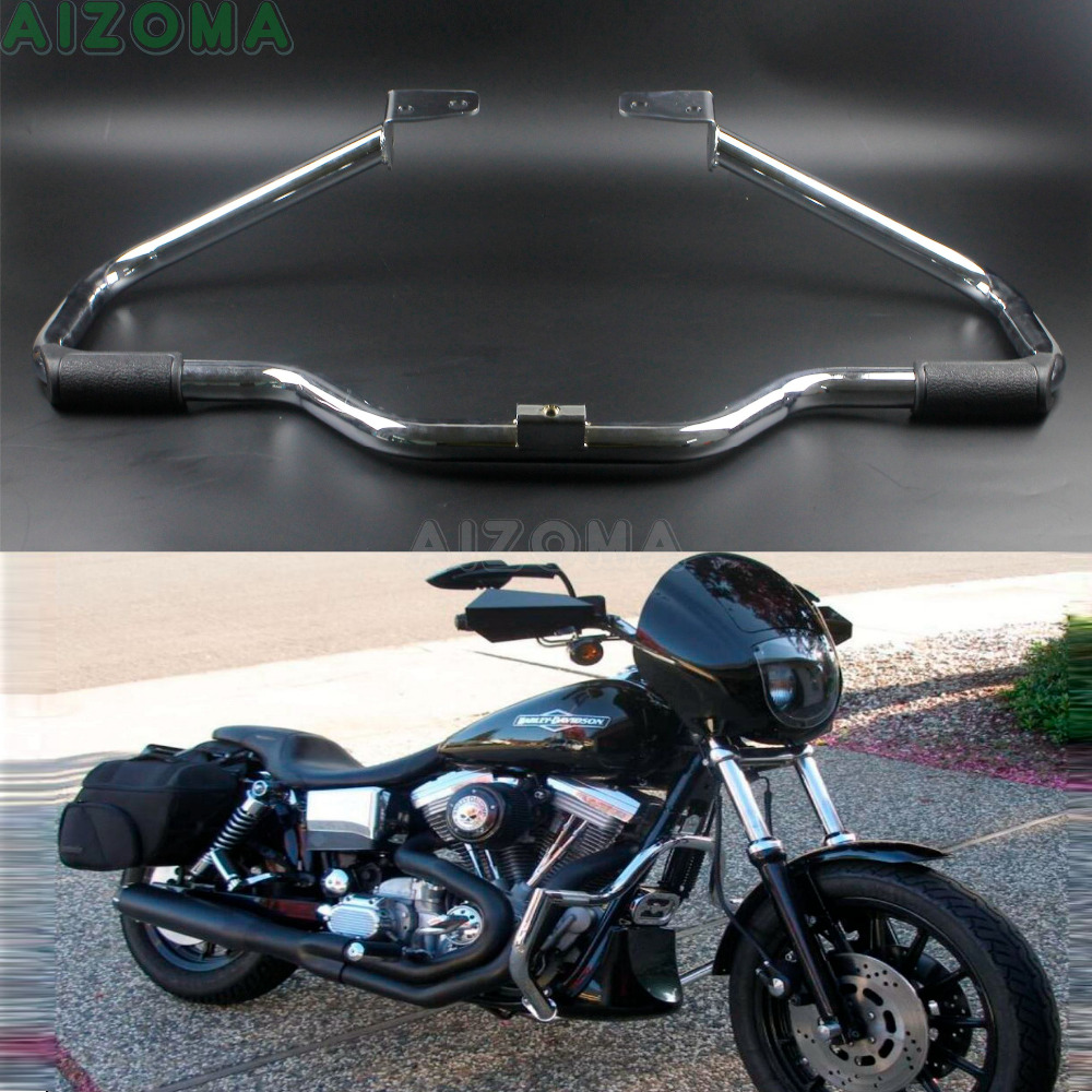 Motorcycle Chrome Engine Highway Guard Crash Bars For Harley Dyna Super Wide Glide FXD FXDB FXDL FXDWG Switchback FLD 2006 Later in Covers Ornamental Mouldings from Automobiles Motorcycles