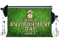 World Environment Day Backdrop 5th June Protect the Earth Backdrops Green Grass Meadow Nature Spring Photography Background