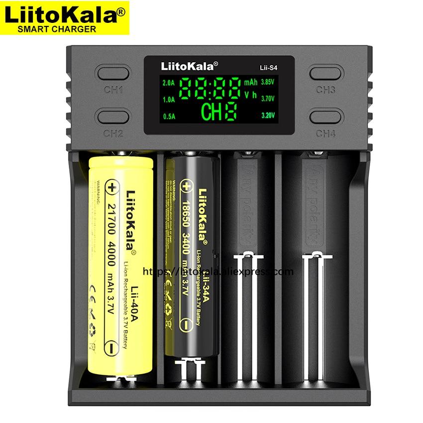 Liitokala Lii-S2 Lii-402 Lii-S4 Battery Charger, Charging 18650 18350 18500 16340 10440 14500 26650 1.2V AA AAA NiMH Battery.