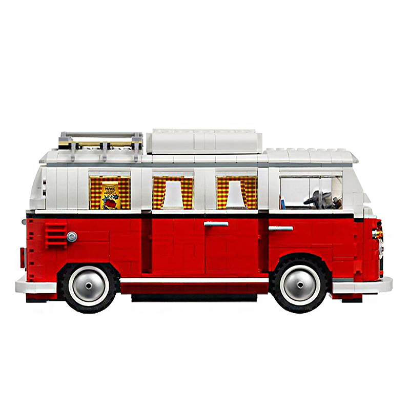Image 2 - 2019 New Legoings 1354Pcs Blocks Technic Series Volkswagen T1 Camper Van Model Building Kits Set Bricks Toys-in Blocks from Toys & Hobbies
