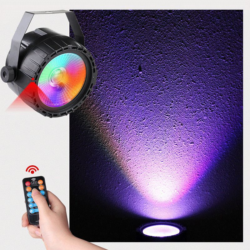 90 240V 30W LED Stage Light RGB UV Color RF Remote Self Propelled Voice Control Stage Decor For DJ Bar Party Church With EU Plug in Lightings from Home Garden