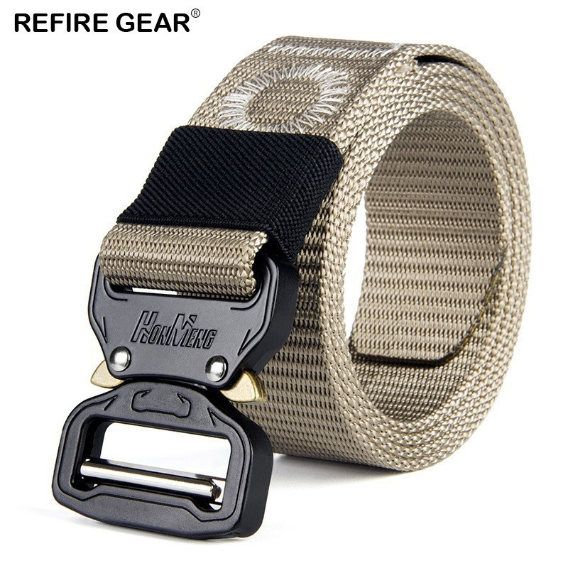 Brilliant Refire Gear Outdoor Tactical Nylon Heavy Duty Belts Men Sport Combat Field Army Belt Survival Adjustable Metal Buckle Waist Belt Crazy Price