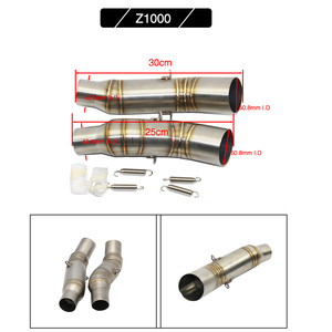 Image 4 - Alconstar  Motorcycle Exhaust Muffler Middle Pipe Link Pipe Slip on For Kawasaki Z750 Z800 Z1000 ZX6R ZX 6R ZX10R ZX 10R Racing