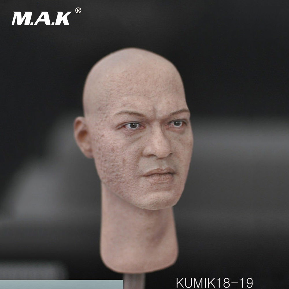 1/6 Scale Male Head Model KUMIK18-19 Man Head Carving for 12'' Action Figure 1 6 scale mike head carved jailbreak mike scofield wentworth miller head carving 12 figure accessories