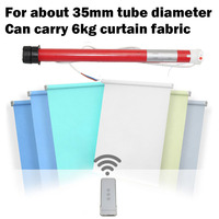 Smart Home AC Tubular Motor Electric Curtains Curtains Intelligent Remote Control Automatic Lifting