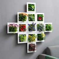 Креативный 3D имитация растений настенный искусственный цветок дерево зерна цветочный горшок с цветком декоративный Ресторан домашний Нас...