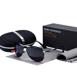 Image 3 - BARCUR yüksek kaliteli erkek güneş gözlüğü erkekler polarize marka tasarım güneş gözlüğü erkek Oculos erkek güneş gözlüğü s8712 marka tasarımcısı