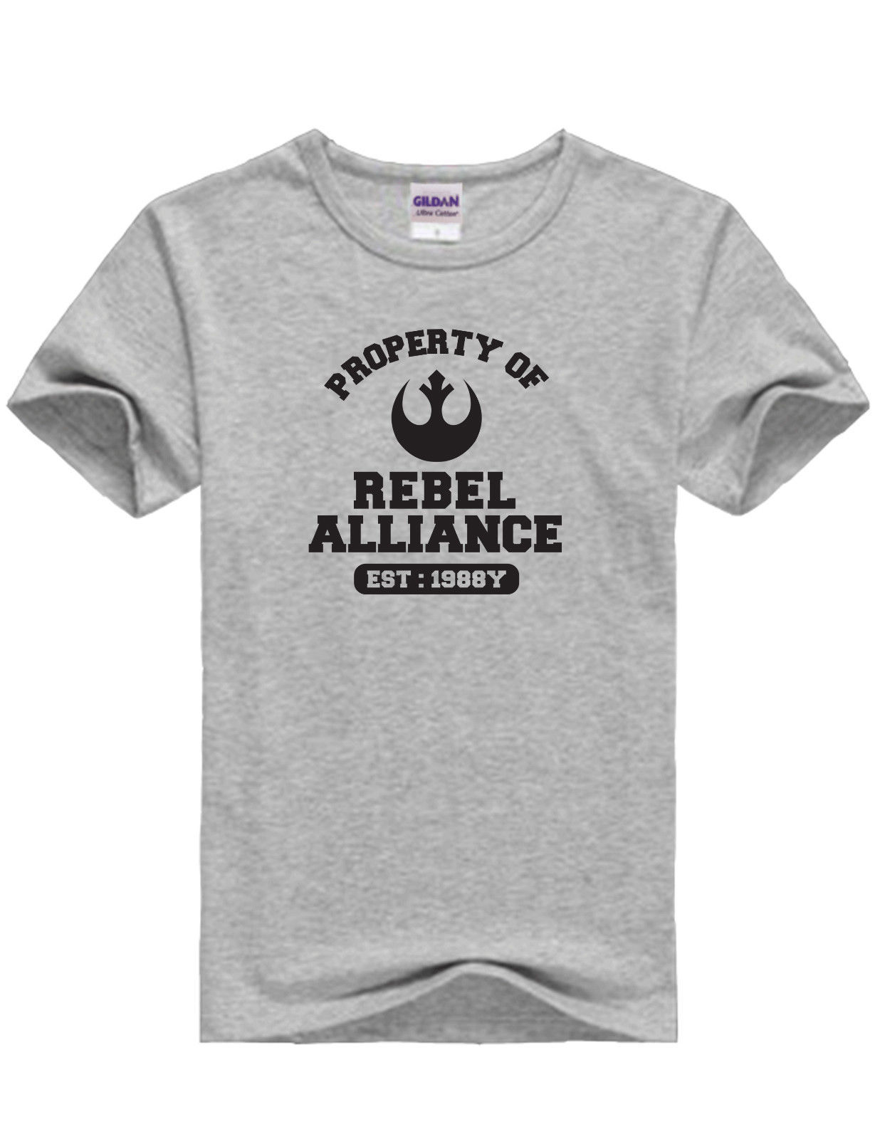 Inspired Star Wars Movie Property of Rebel Alliance Unisex Grey amp Black TShirts Free shipping Harajuku Tops Fashion Classic in T Shirts from Men 39 s Clothing