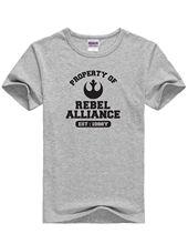 Inspired Star Wars Movie Property of Rebel Alliance Unisex Grey & Black TShirts Free shipping  Harajuku Tops Fashion Classic