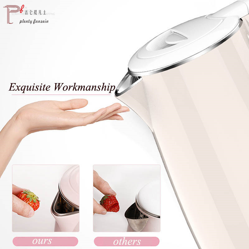 Plentyfunsion 1 8L 1500W 304 Stainless Electric Water Kettle Handheld Quick Heating Auto Power off Protection Pot in Water Kettles from Home Garden