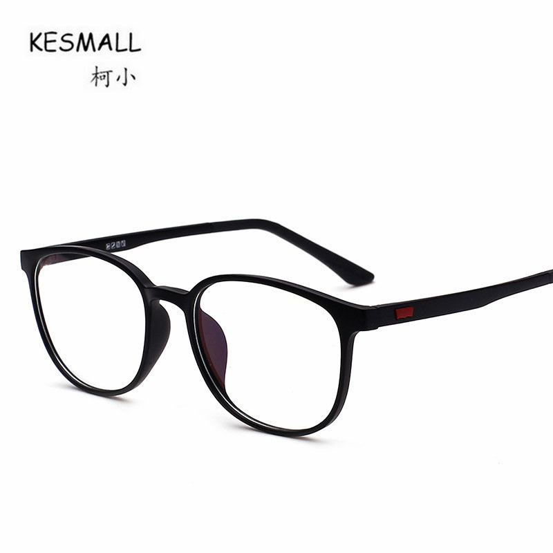6ed4808f64b KESMALL Fashion Brand New Blue Reading Glasses Frame Men Women Gaming Eyeglasses  Frames Clear Lens Eyewear Occhiali Miopia XN164