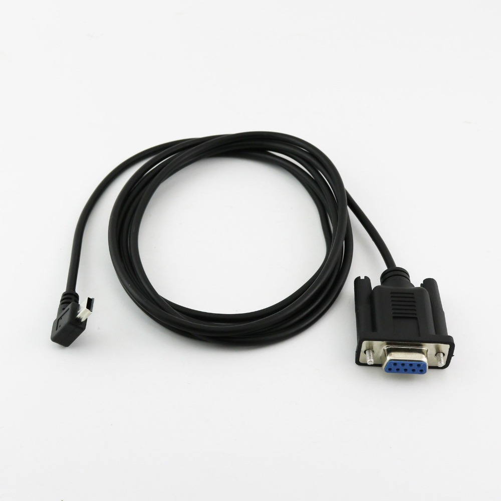 1pcs 6FT Mini USB 2.0 Male To RS232 DB9 9 Pin Female Adapter Entension Lead Cable 6Ft