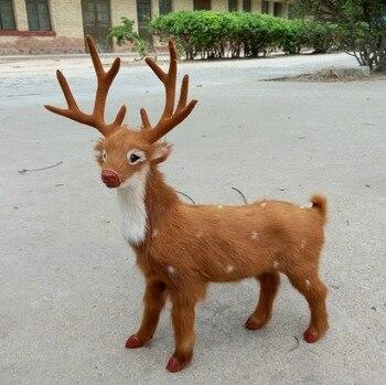Simulation milu deer polyethylene&furs sika deer model funny gift about 31*35.5CM