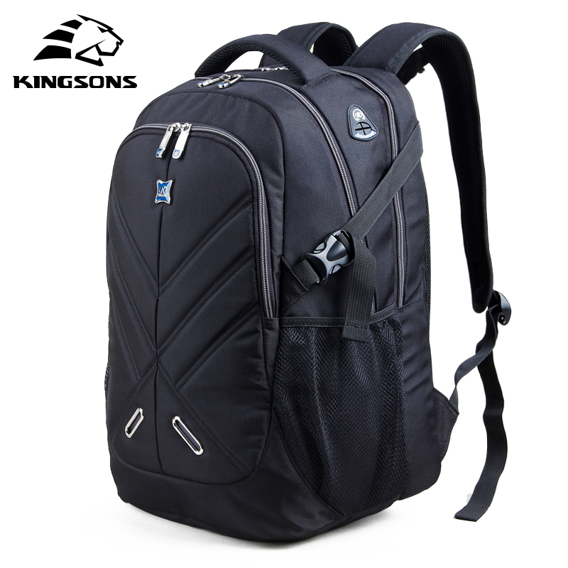 Kingsons Fashion Casual 15.6 Laptop Backpack for Men School Notebook Backpack Nylon Waterproof Travel Backpack Mochila Escolar sosw fashion anime theme death note cosplay notebook new school large writing journal 20 5cm 14 5cm