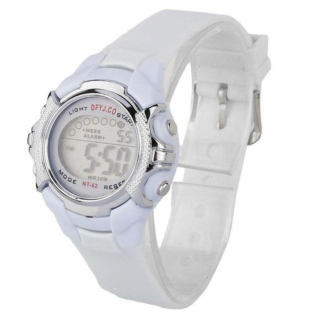Fashion Women Men Watches Digital LED Quartz Children Clock Alarm Date Sports Wr