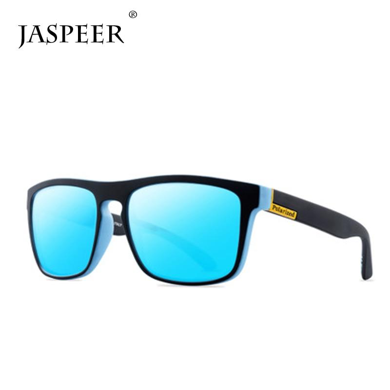 JASPEER Polarized Sunglasses Sports Sun glasses UV Protection Driving Mirror Men's Spuare UV400 Sunglass