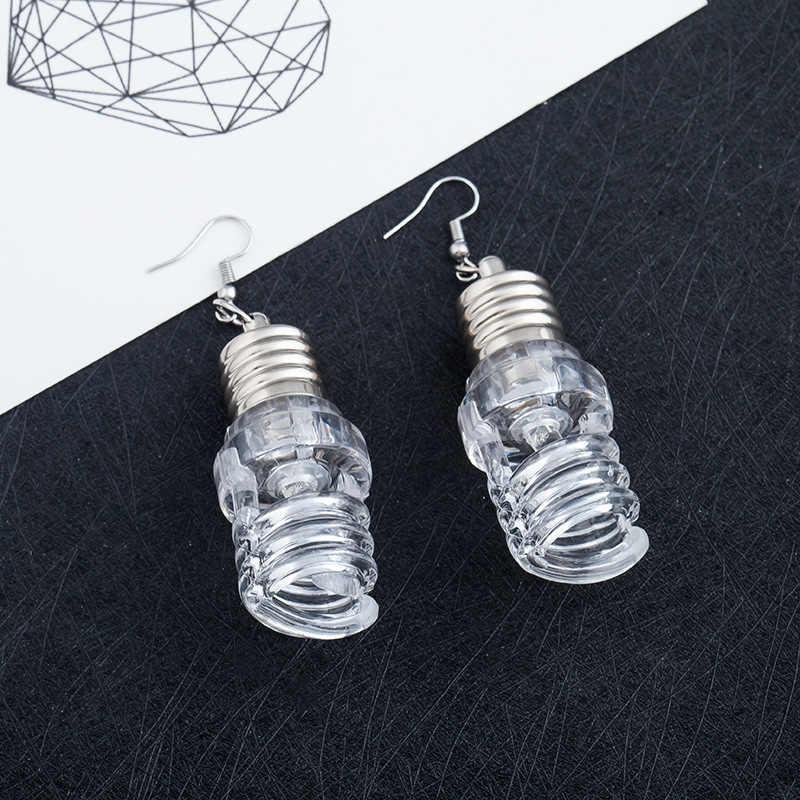 2020 การออกแบบใหม่ที่ไม่ซ้ำกันตลกหลอดไฟ DROP Earrings ผู้หญิงแฟชั่น Luminous Dangle Brincos ของขวัญเพื่อนเครื่องประดับ