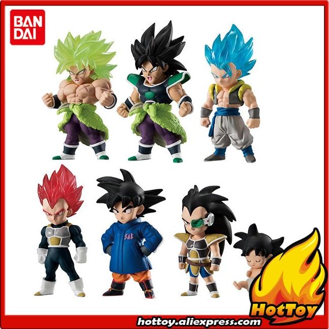 100 Original BANDAI ADVERGE 09 Toy Figure Full Set of 6 Pcs Broly Son Goku Vegeta