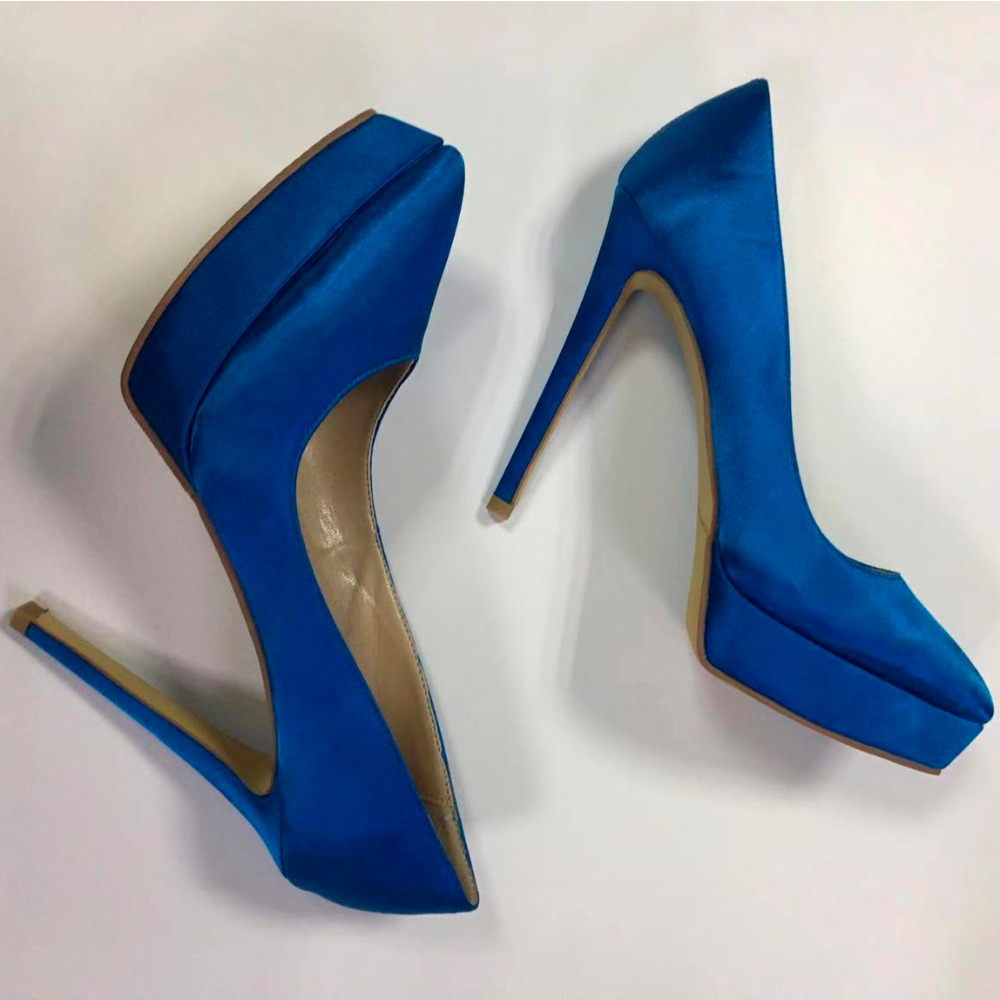 12cm High Heel Pumps Pointed Toe Platform Satin Wedding Shoes Lady Formal Dress Shoes Factory Direct12cm High Heel Pumps Pointed Toe Platform Satin Wedding Shoes Lady Formal Dress Shoes Factory Direct