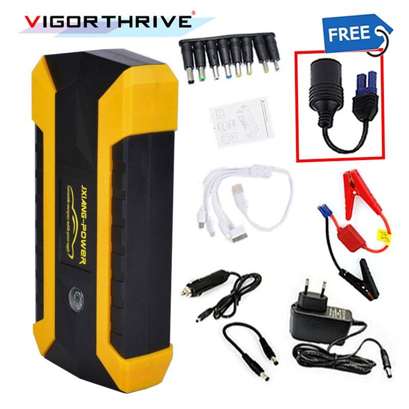12 V démarreur Voiture De Saut Multi-fonction Portable 3 LED lumière Avec Power Adapter 4 USB Pour L'essence Téléphone Portable d'urgence Alimentation