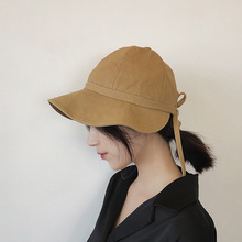 Women Hat Concise Casual Solid Color Folding Soft Breathable Sunscreen Summer Bucket