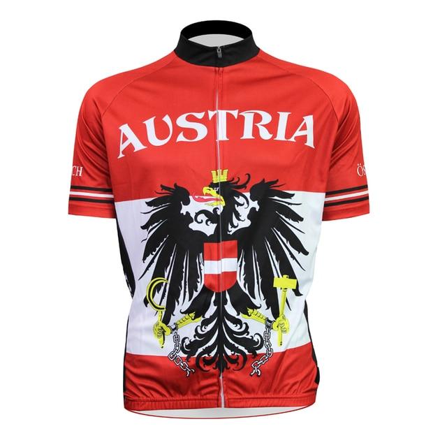 4c367c7f8 New Mens Cycling Jersey Comfortable Bike Bicycle Shirt Austria flag logo  Alien SportsWear Red cyclingclothing Size 2XS-5XL