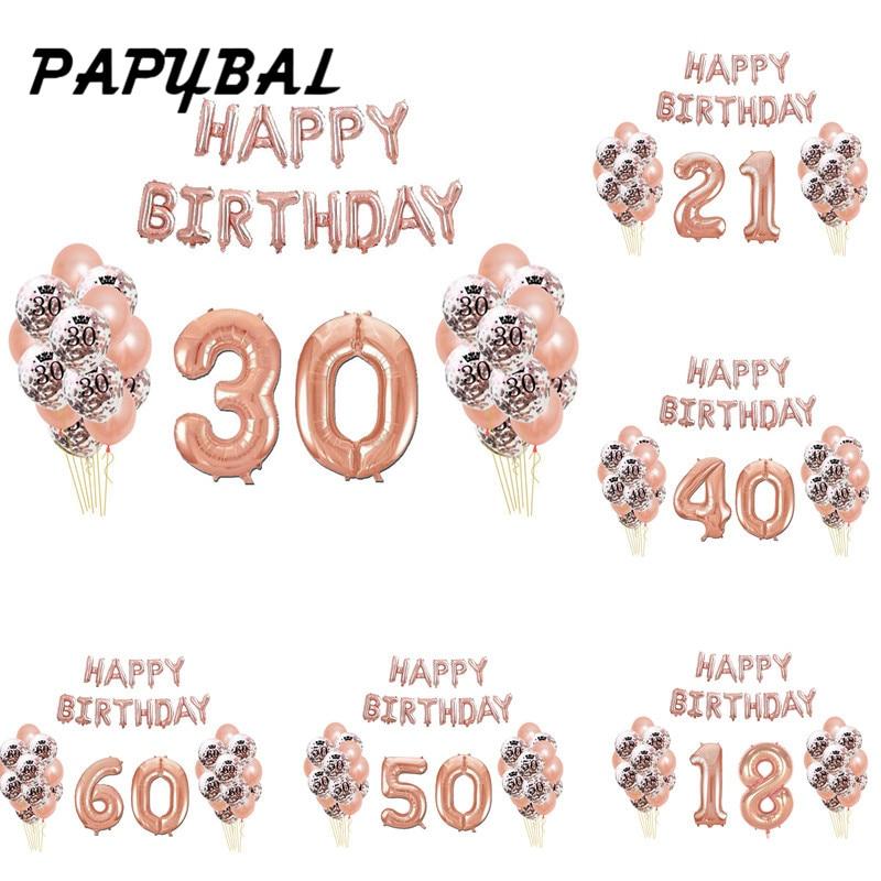 21 30 40 50th Happy Birthday Decoration Birthday Letter