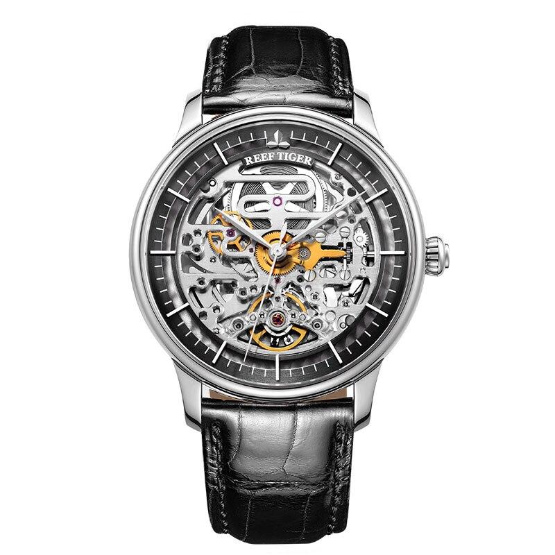 Mens Watch Skeleton Luxury Clock Strap Top-Brand Tiger/rt-Designer Reloj Hombre RGA1975