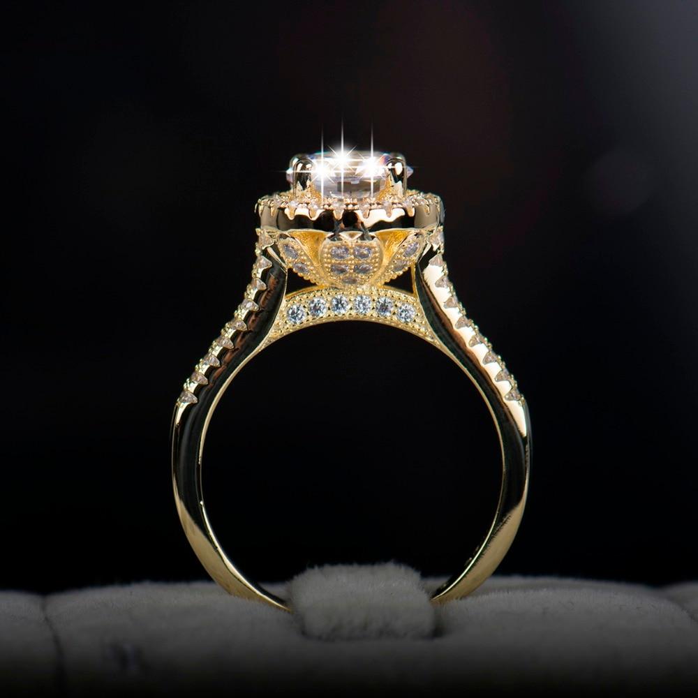 2018 bizhuteri e re fasade e unazës së vërtetë argjendi 925 të - Bizhuteri të modës - Foto 2