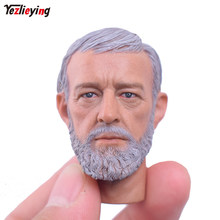 "SO TOYS Custom 1:6 scale head sculpt male Obi-Wan Kenobi Wars Jedi Knight Obi-Wan Carving Model For 12"" Hot Toys Star Wars Body(China)"