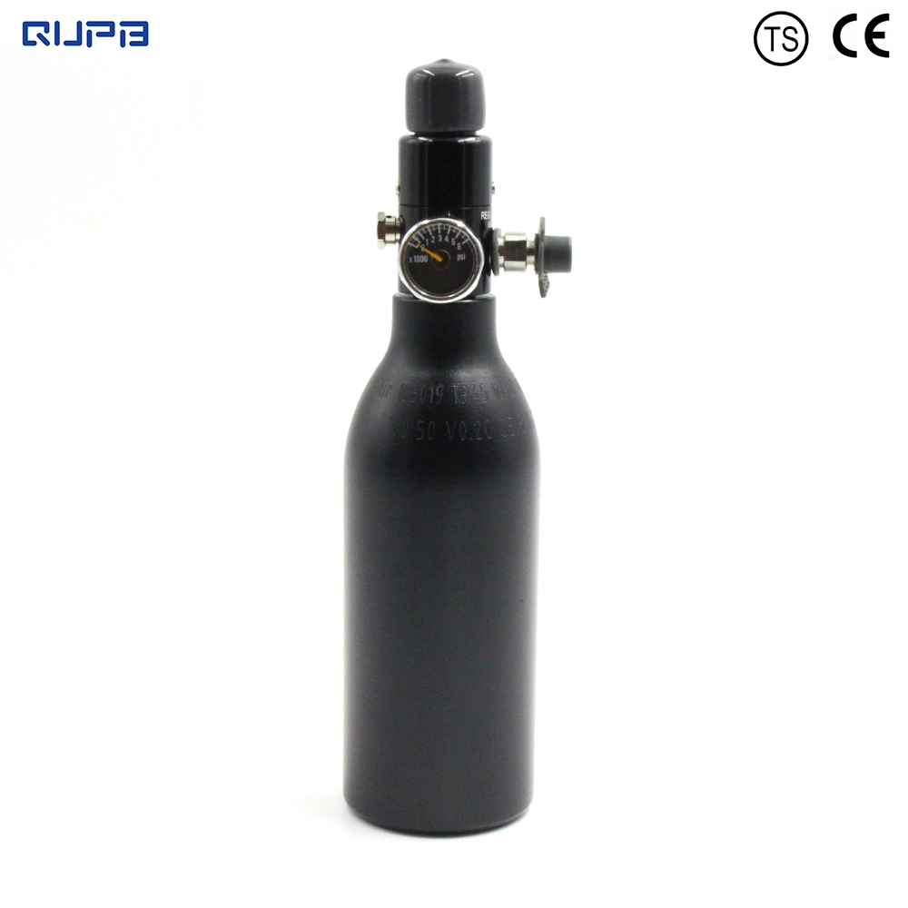 QUPB PCP Paintball High Pressure Cylinder 0 2L 4500PSI HPA Aluminium Air Tank w Regulator 5