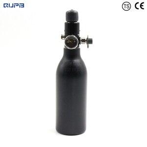 Image 1 - QUPB PCP Paintball High Pressure Cylinder 0.2L 4500PSI HPA Aluminium Air Tank w/ Regulator 5/8 18UNF 60MM Diameter TKU020