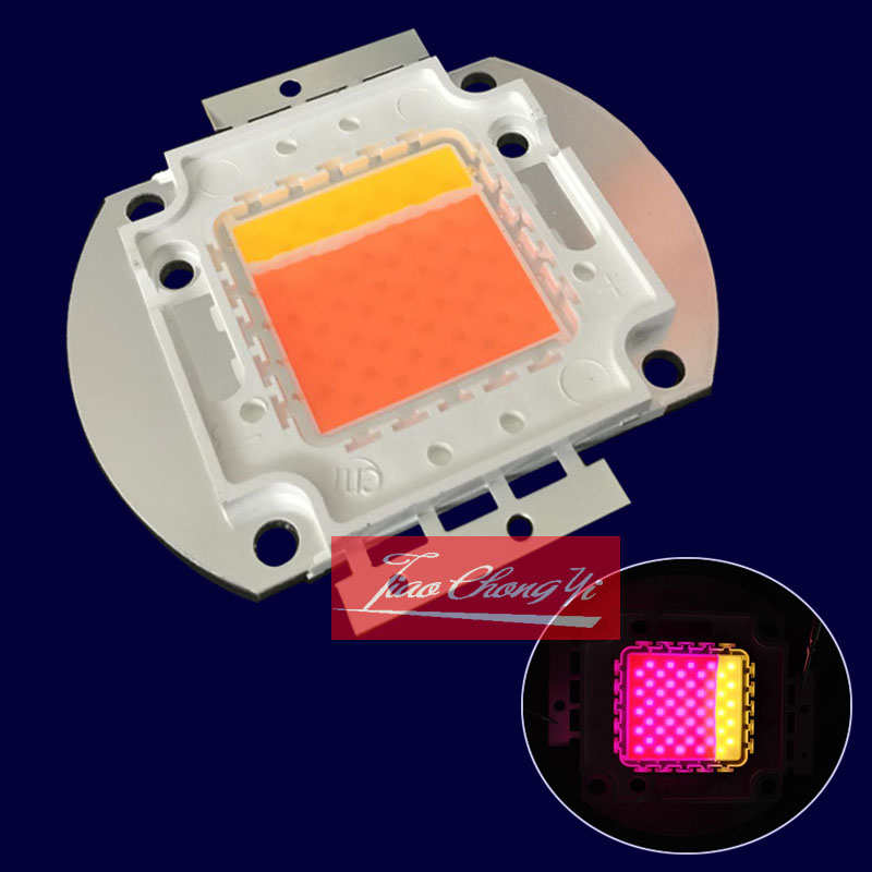 New 50w Led Grow Chip ,80% Is Full Spectrum 380-840nm ,20% Is Warm White Light ,high Lumens , High PPFD For Indoor Plant Grow