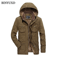 BINYUXD Jacket Men Winter Jeans Wool Thick Warm Vintage Brand Clothing Suits Denim Man S