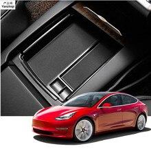 ABS 1 шт. центральной консоли Организатор Коробка для хранения подлокотник держатель Контейнер автомобильный аксессуар Tesla модель 3