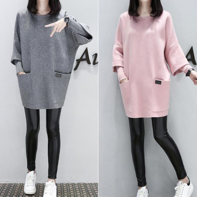 Spring Autumn Casual Thin Hoodies For Women Three Quarter Sleeve O Neck Pullovers Female Sweatshirts