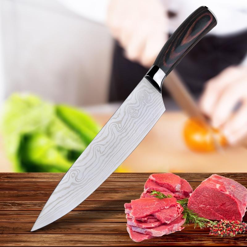 RSCHEF 8 Inch Chef Knife 7cr17Mov couteau cuisine faca de cozinha clever cutter kitchen knife