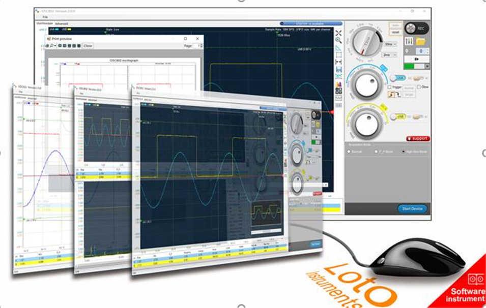 Dual Channel Virtual Oscilloscope PC Oscilloscope OSC482 50M Sampling 20M  Bandwidth PK 1008C 6022BL