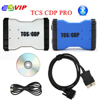 Goede Kwaliteit Nieuwe TCS CDP PRO 2014.2/2015.3 Met Keygen Software met Bluetooth Auto OBD2 Diagnose Scan Tool CDP Voor Auto Truck