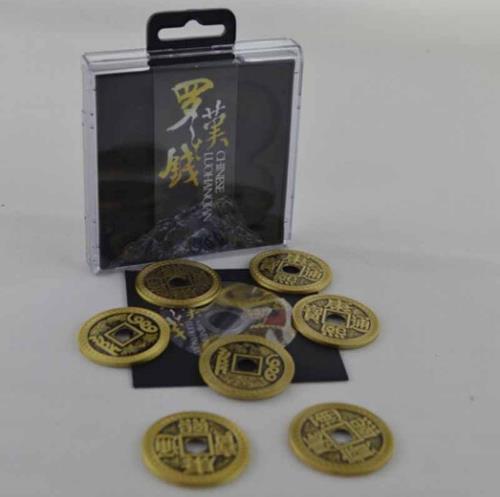LuohanQian chinois (pièce de taille demi-Dollar), jeu de pièces de luxe chinois, pièce ancienne de chine, tours de magie, Gimmick + DVD, Illusions, amusement