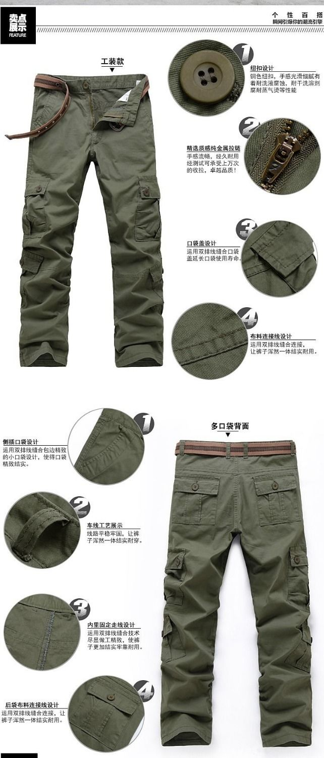 Cargo Pants Men Combat SWAT Army Military Pants Cotton Many Pockets Stretch Flexible Man Casual Trousers Plus Size 28- 38 40 27