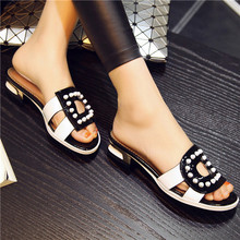 Big Size 41 42 Design Shoes Women Sandals Real Leather Slippers Casual Flats Cutout Rivets Natural Genuine Leather Slides TAA08