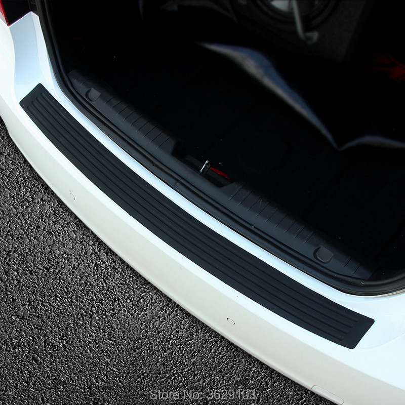 Car rear bumper protective decorative strips sticker accessories car styling for mazda 3 6 2 5 CX-5 CX-7 CX-3 323 ATENZA Axela custom made car floor mats for mazda 3 axela 6 atenza 2 cx 5 3d car styling high quality all weather full cover carpet rug liner