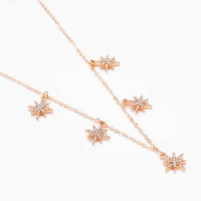 2017 nouveau bijoux Simple Steampunk Imitation perceuse exquise étoile clavicule chaîne déclaration collier femmes