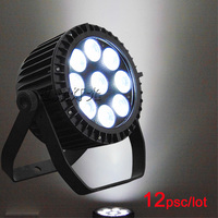 12pcs/lot Fast Shipping Super Bright LED Par RGBWA UV 9x8W LED Stage Wash Lighting for Wedding Concert Parties DJ