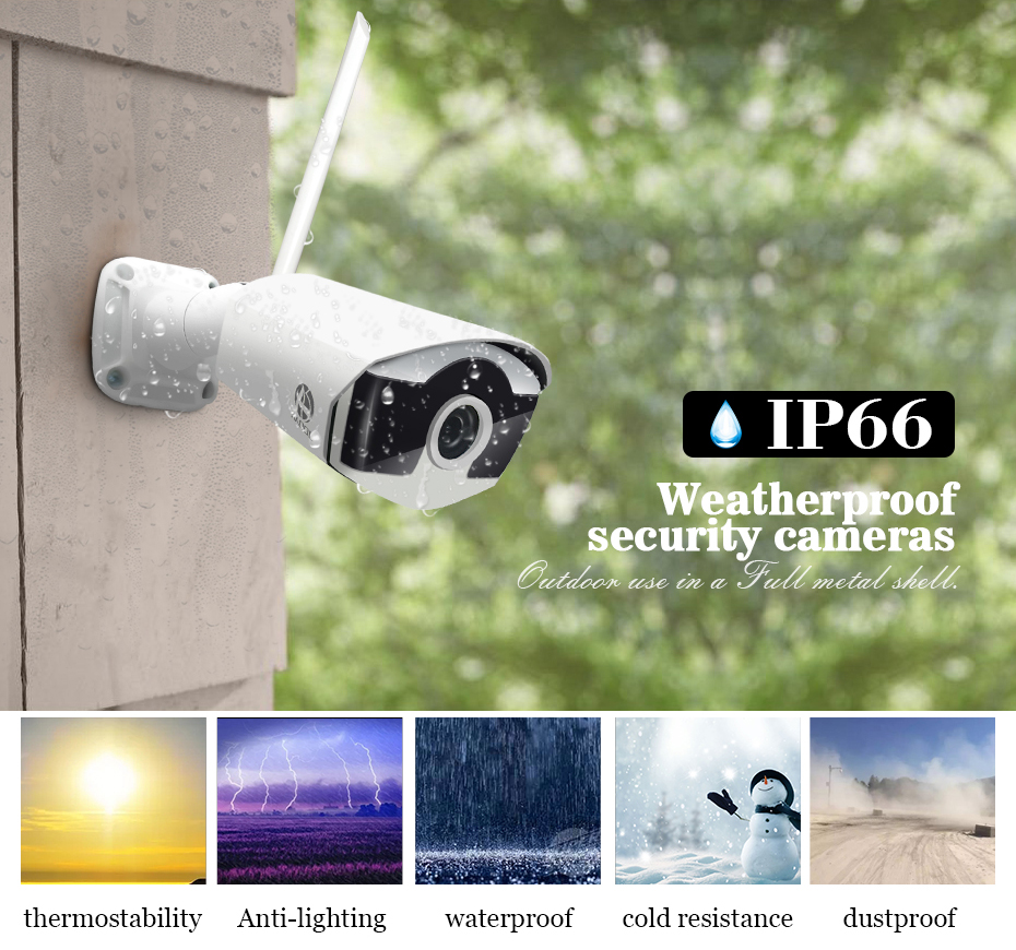 Kit CCTV Drahtlose Video Überwachung H.265 8CH NVR 4 Kameras Home Security System DVR Kit Outdoor Ip-kamera CCTV Kamera system