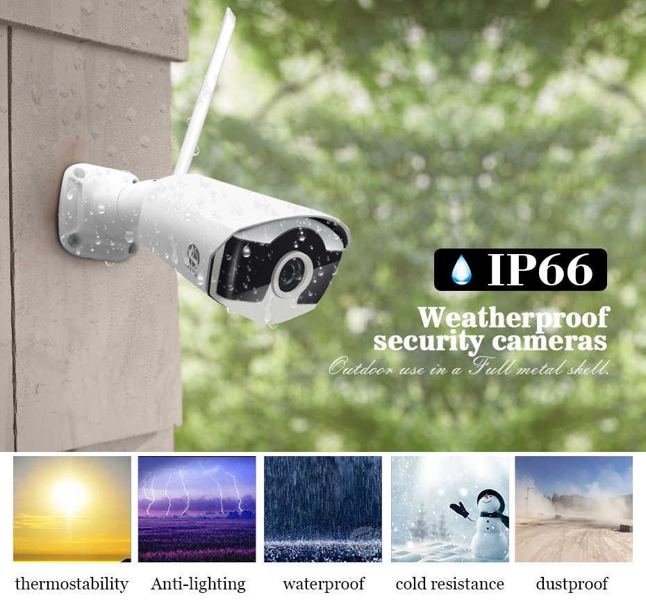 видеонаблюдение ip Беспроводной комплект 4CH видеонаблюдения NVR 1080 P IP Камера Wi-Fi Камера 2MP CCTV Системы P2P камера видеонаблюдения беспроводная наблюдения Системы