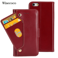 Genuine Leather Phone Case For Iphone 6 6s plus Case Luxury Flip Wallet Cradit Card Holder 360 Cover Coque For Iphone 6 s plus